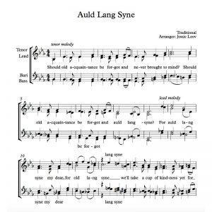 4 part vocal arrangements